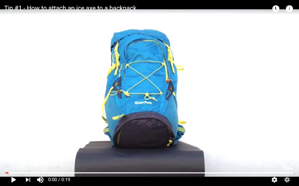 How to safely attach an Ice axe to a backpack
